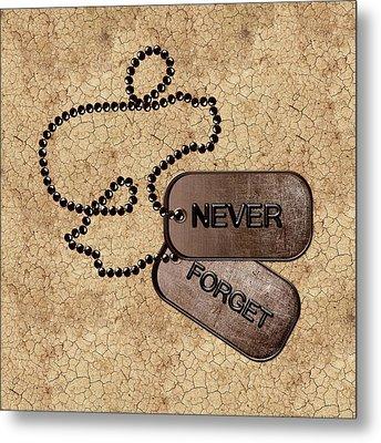 Never Forget Metal Print by Anastasiya Malakhova