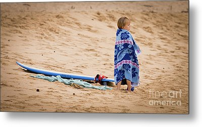 Never Too Young To Surf Metal Print by Denis Dore