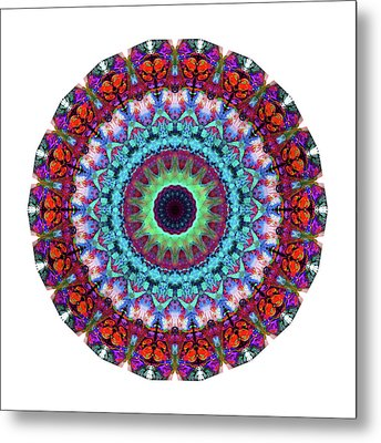 New Dawn Mandala Art - Sharon Cummings Metal Print