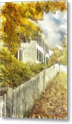 New England Fall Foliage Pencil Metal Print by Edward Fielding