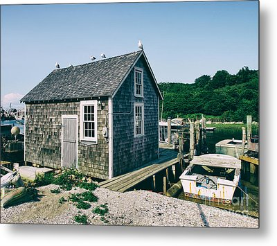 New England Fishing Cabin Metal Print by Mark Miller