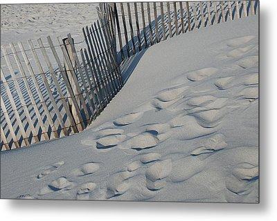 New England Footprints Metal Print by Gene Sizemore