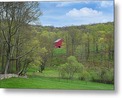 New England Spring Pasture Metal Print by Bill Wakeley