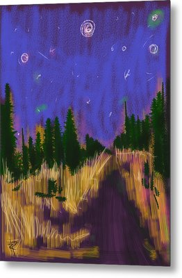 New England Starry Night Metal Print