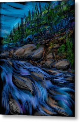 New England Stream Metal Print by Russell Pierce