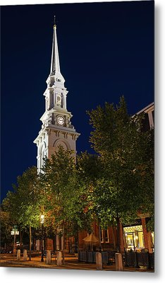 Metal Print featuring the photograph New Hampshire Portsmouth North Church by Juergen Roth