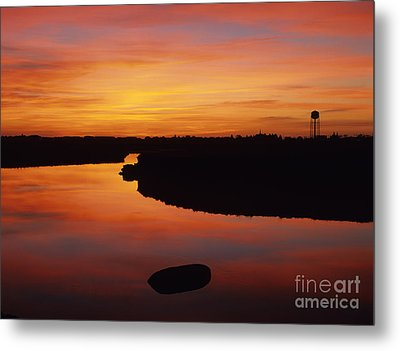 New Hampshire Salt Marsh At Sunrise Metal Print by Erin Paul Donovan