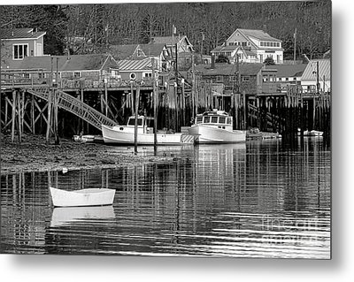 Metal Print featuring the photograph New Harbor Docks by Olivier Le Queinec