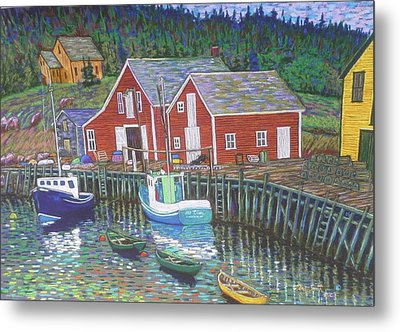 New Harbour  N.s. Metal Print by Rae  Smith