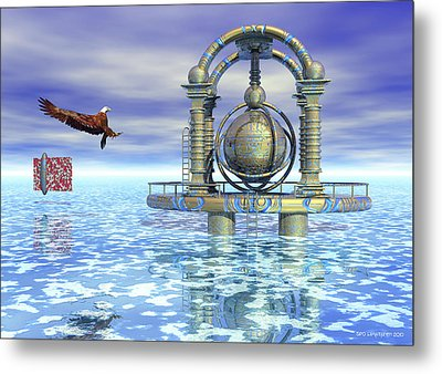 Metal Print featuring the digital art New Home by Sipo Liimatainen