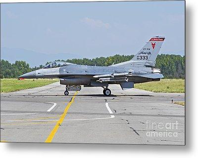New Jersey Air National Guard F-16c Metal Print