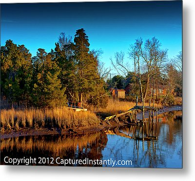 New Jersey River Bank Metal Print by Kevin Hill