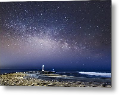 New Jersey Shore Milky Way Rising Metal Print