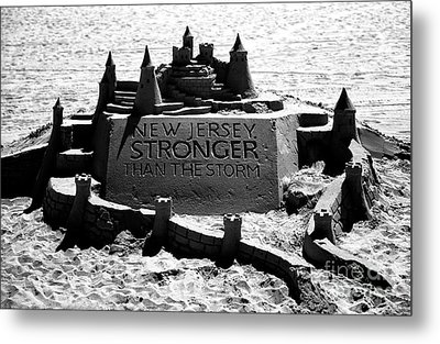 New Jersey Stronger Than Storm Metal Print by John Rizzuto