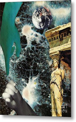 New Life In Ancient Time-space Metal Print by Sarah Loft