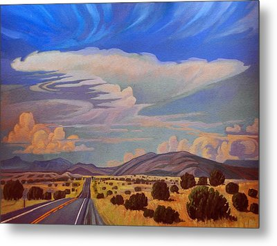New Mexico Cloud Patterns Metal Print