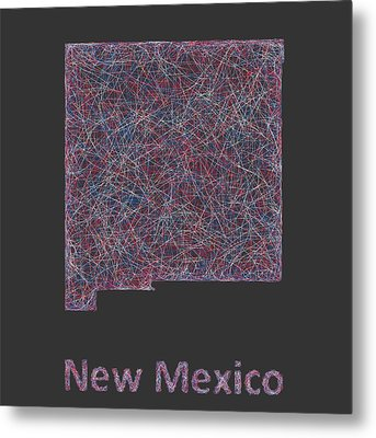 New Mexico Map Metal Print by David Zydd