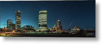 Metal Print featuring the photograph New Milwaukee Skyline by Randy Scherkenbach