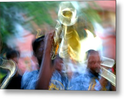 New Orleans Abstract Street Jazz Performance Metal Print
