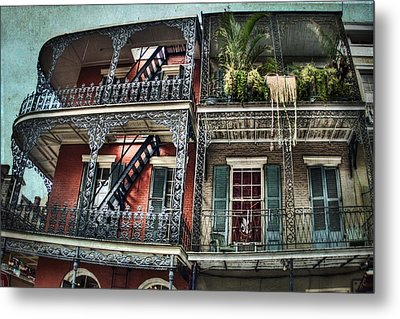 New Orleans Balconies No. 4 Metal Print by Tammy Wetzel