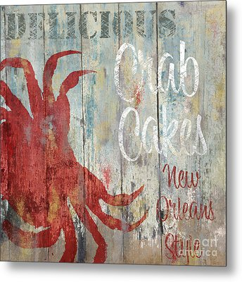 New Orleans Crab Cakes Metal Print by Mindy Sommers
