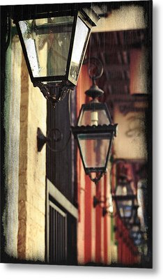 New Orleans Gas Lamps Metal Print