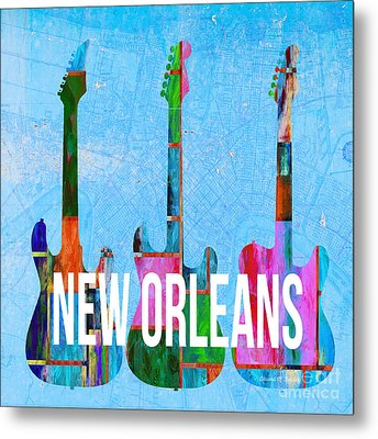 New Orleans Music Scene Metal Print