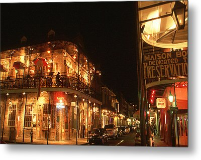 New Orleans Jazz Night Metal Print by Art America Gallery Peter Potter