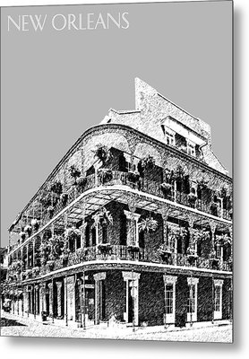 New Orleans Skyline French Quarter - Silver Metal Print