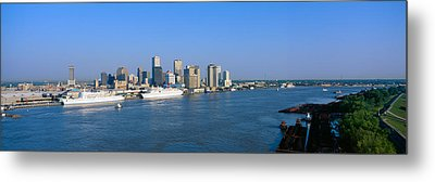 New Orleans Skyline, Sunrise, Louisiana Metal Print by Panoramic Images