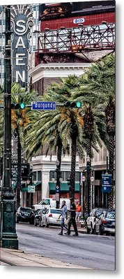 New Orleans Streetcars Triptych 1 Metal Print by Andy Crawford