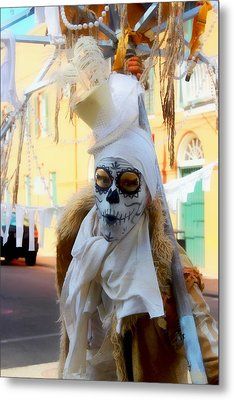 New Orleans Voodoo Man Metal Print by Barbara Chichester