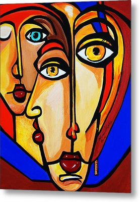 New Picasso By Nora Friends Metal Print by Nora Shepley