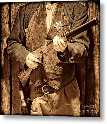 New Sheriff In Town Metal Print by American West Legend By Olivier Le Queinec