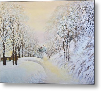 New Snow In Hunting Hills Metal Print by Douglas Ann Slusher