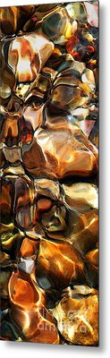 New Textures Of A Streambed Metal Print by Terril Heilman