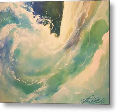 New Wave   - The Surge Metal Print by Therese Fowler-Bailey