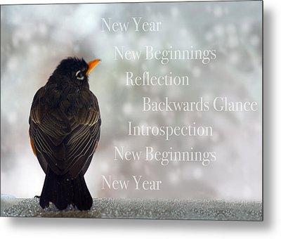 New Years Card Metal Print by Lisa Knechtel