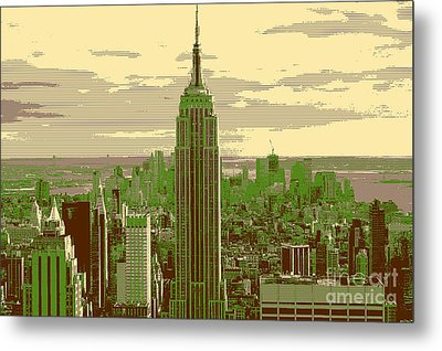 New York Metal Print by Celestial Images
