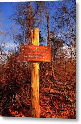 New York Appalachian Trail Sign Metal Print by Raymond Salani III
