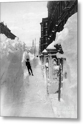 New York: Blizzard Of 1888 Metal Print by Granger