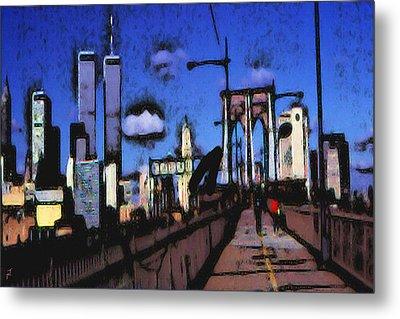 New York Blue - Modern Art Metal Print