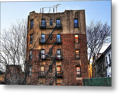 New York City Apartments Metal Print by Randy Aveille