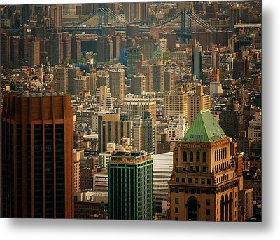 New York City Buildings And Skyline Metal Print by Vivienne Gucwa