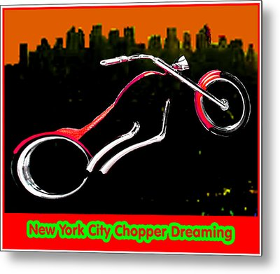 New York City Chopper Dreaming Red Jgibney The Museum Zazzle Gifts Fa Metal Print by The MUSEUM Artist Series jGibney