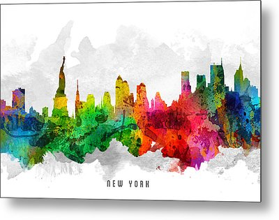 New York City Cityscape 12 Metal Print by Aged Pixel