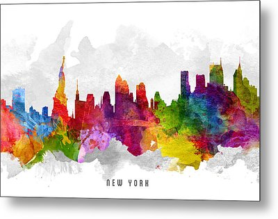 New York City Cityscape 13 Metal Print by Aged Pixel