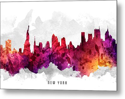 New York City Cityscape 14 Metal Print by Aged Pixel