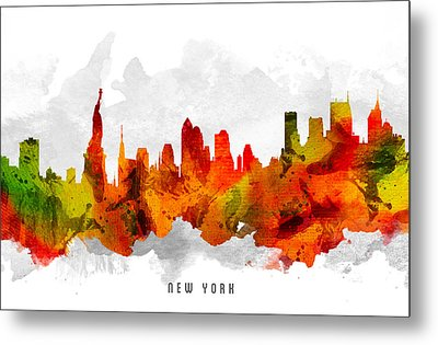 New York City Cityscape 15 Metal Print by Aged Pixel