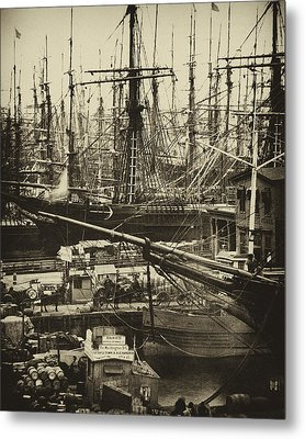 New York City Docks - 1800s Metal Print by Paul W Faust -  Impressions of Light